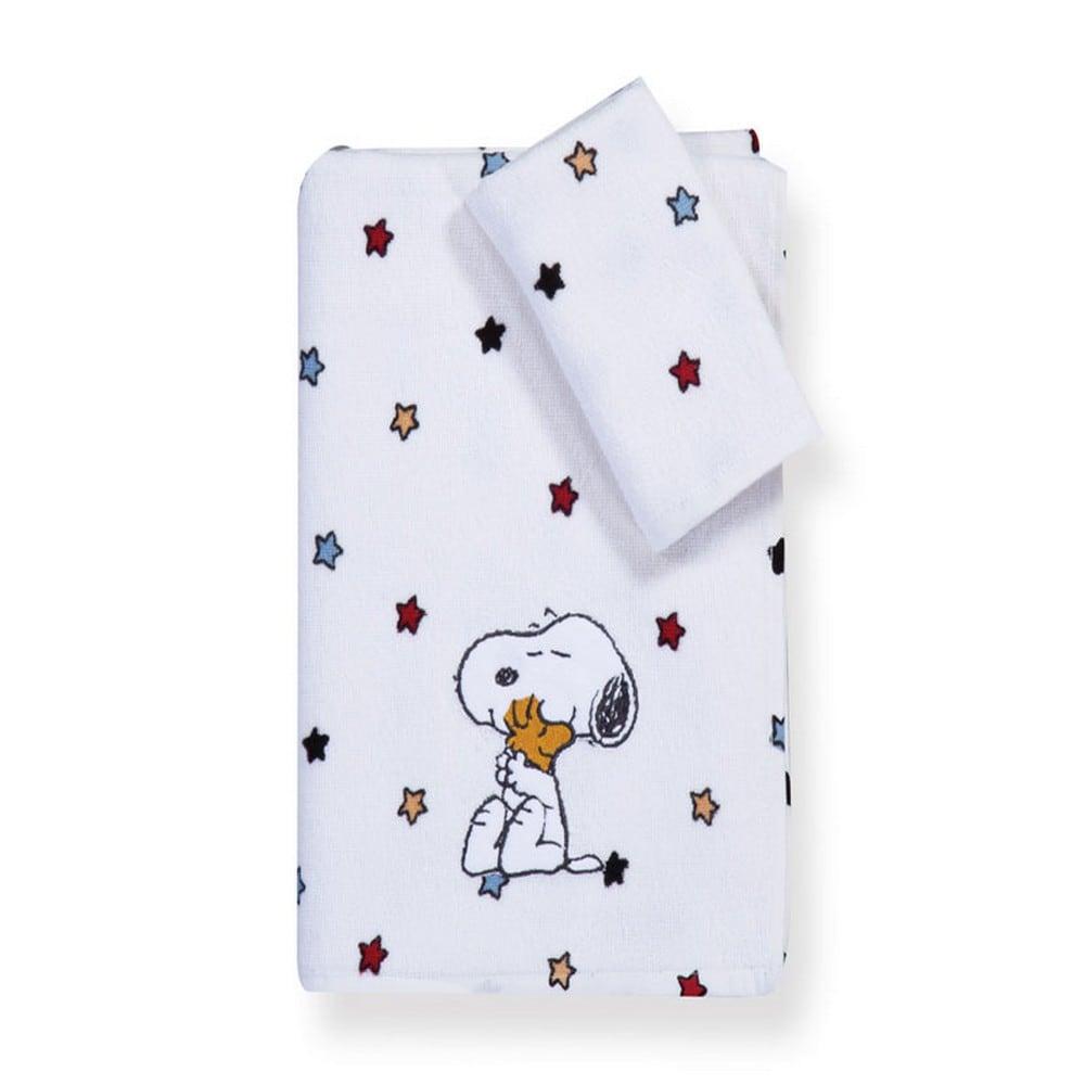Πετσέτα Παιδική Snoopy Rainbow Σετ 2τμχ Multi Nef-Nef Σετ Πετσέτες