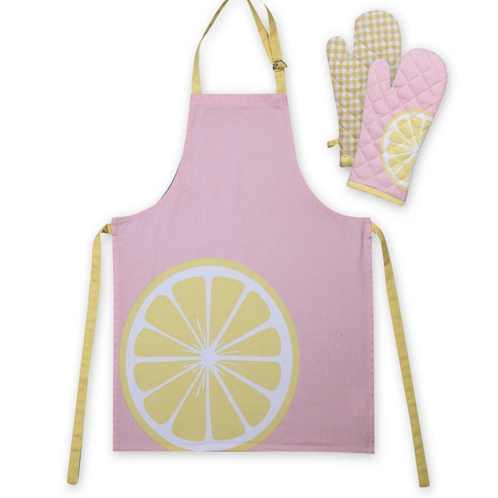 Ποδιά Και Γάντι Σετ 2τμχ Juicy Pink-Yellow Nef-Nef