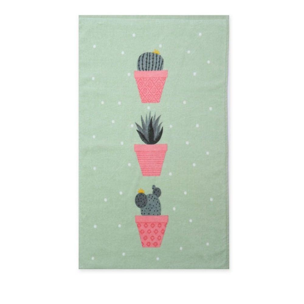 Ποτηρόπανο Cactus Green Nef-Nef 40x60cm