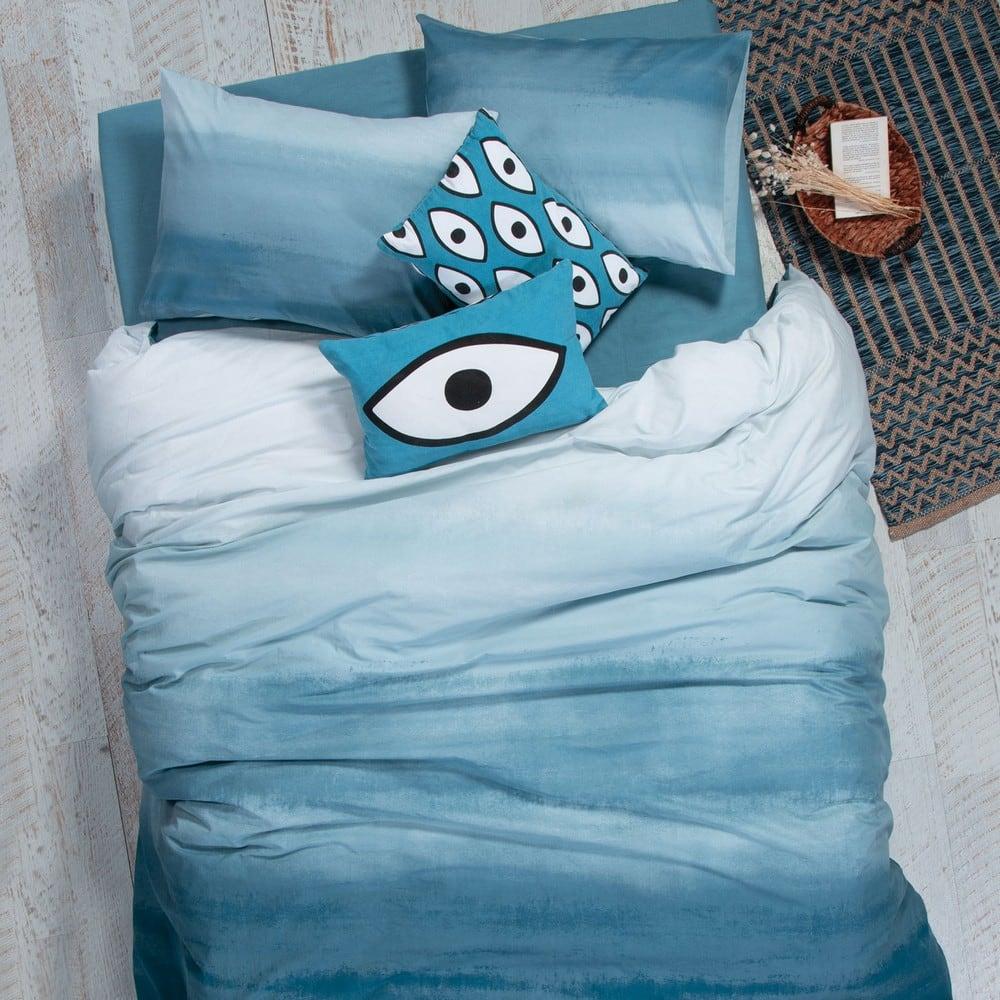 Σεντόνι Ocean Σετ 4τμχ Blue Nef-Nef Διπλό 200x260cm