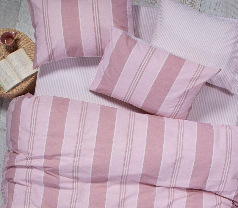 Σεντόνι Vertical Σετ 3τμχ Pink Nef-Nef Μονό 170x260cm