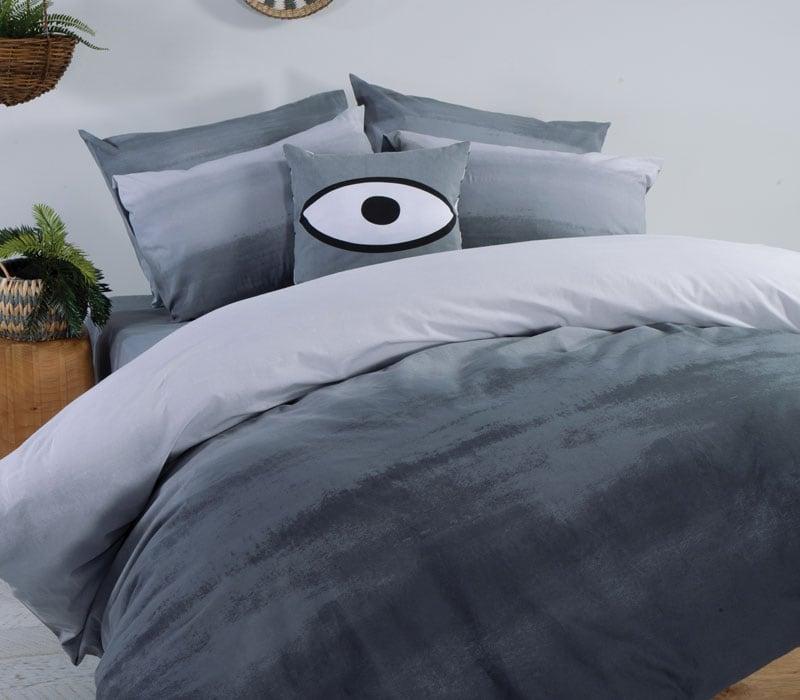 Σεντόνι Με Λάστιχο Ocean Σετ 4τμχ Grey Nef-Nef King Size 270x260cm