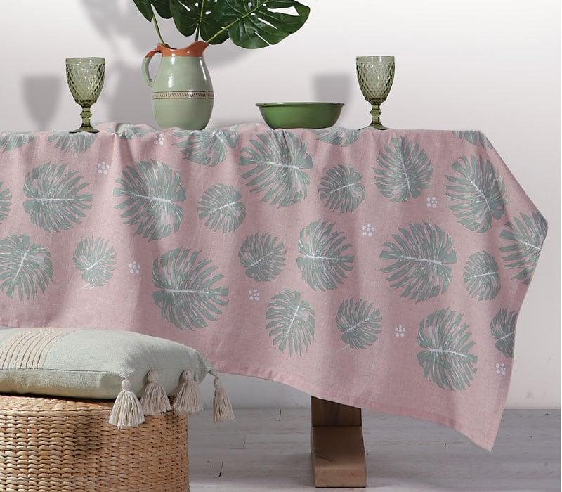Τραπεζομάντηλο Harmony Pink-Green Nef-Nef 150X200 140x180cm
