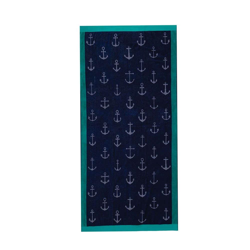 Πετσέτα Θαλάσσης Anchors Dark Blue Nef-Nef Θαλάσσης 100x180cm