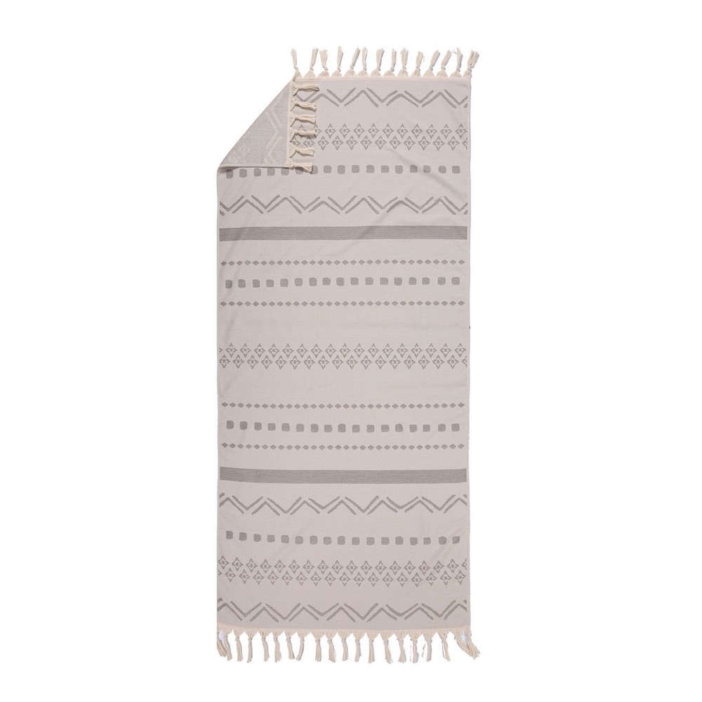 Πετσέτα Θαλάσσης Ragnar Light Grey Nef-Nef Θαλάσσης 90x170cm