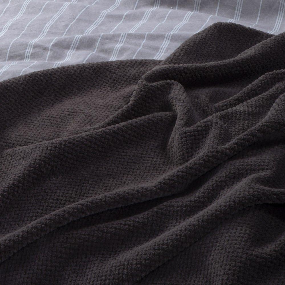Κουβέρτα Fleece Record Grey Nef-Nef Υπέρδιπλo 240x220cm
