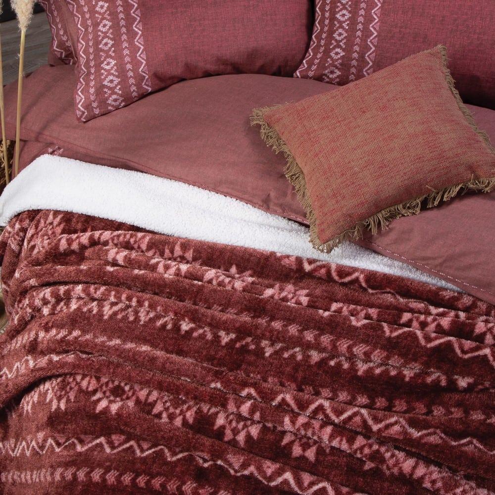 Κουβέρτα Sherpa Benjamin Bordo Nef-Nef Μονό 160x220cm