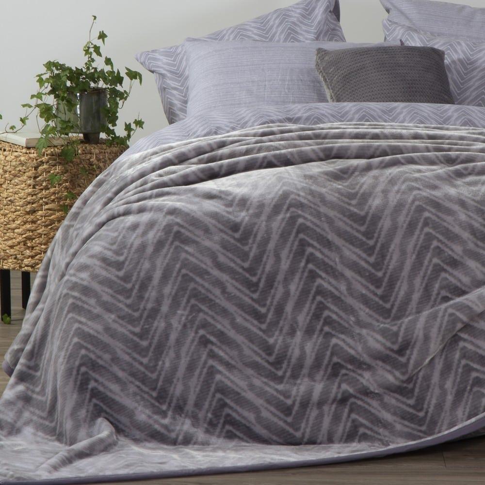 Κουβέρτα Visual Grey Nef-Nef Μονό 160x220cm