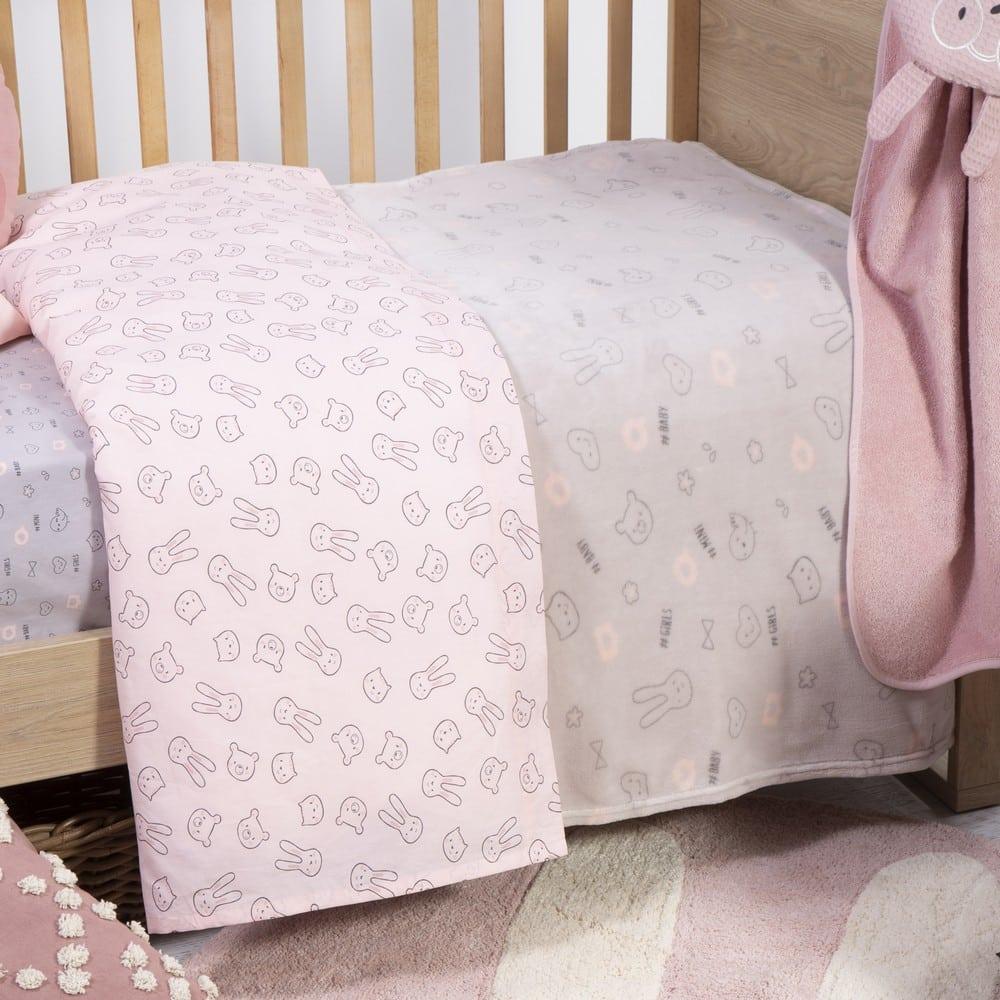 Κουβέρτα Βρεφική Fleece Fashion Baby Grey Nef-Nef Αγκαλιάς 75x100cm