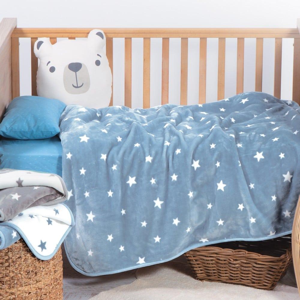 Κουβέρτα Βρεφική Stellar Blue Nef-Nef Κούνιας 100x140cm