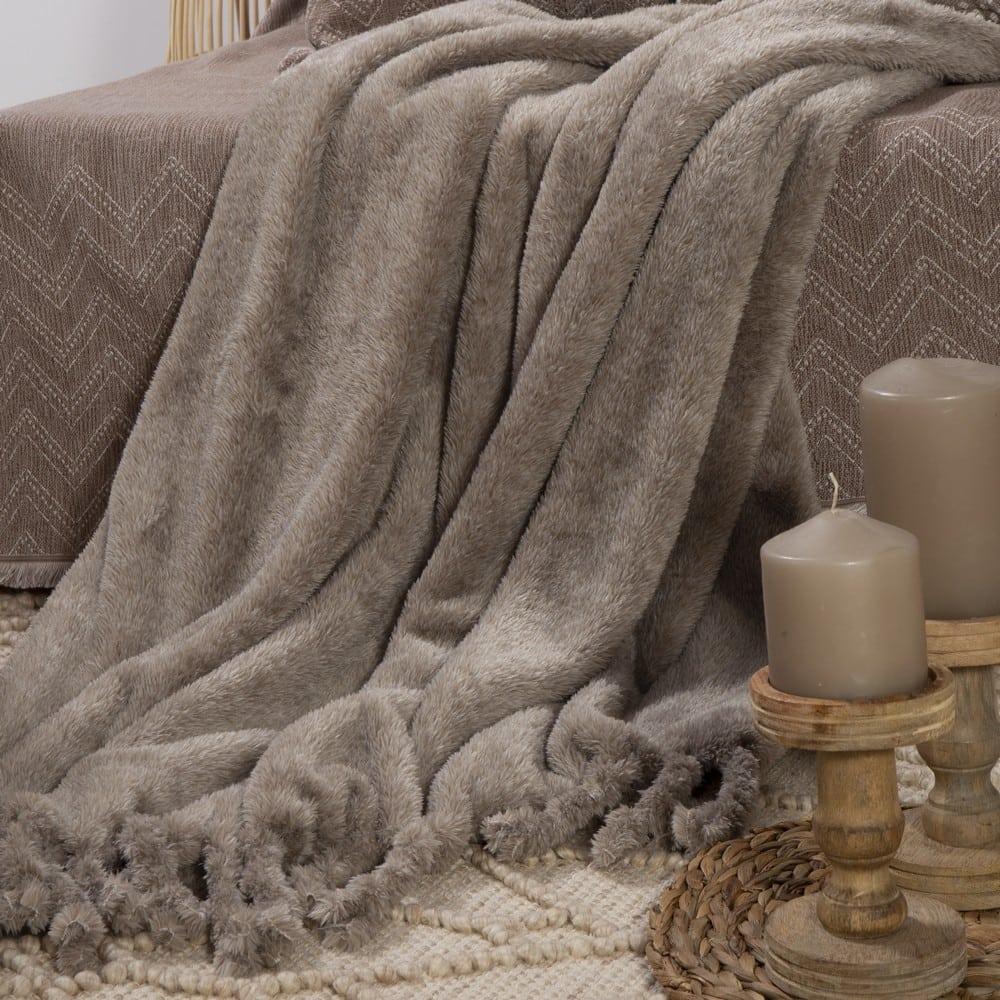 Ριχτάρι – Κουβέρτα Καναπέ Cationing Beige Nef-Nef 150X180 130x170cm