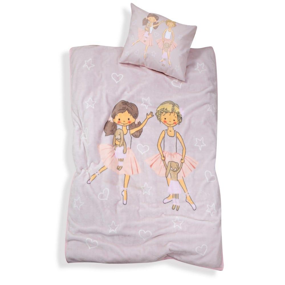 Κουβέρτα Παιδική Dance School Light Grey Nef-Nef Μονό 160x220cm