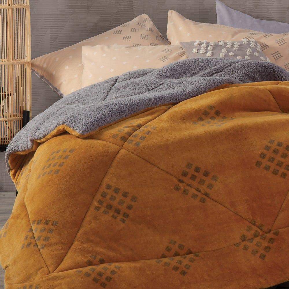 Κουβερτοπάπλωμα Infinity Mustard Nef-Nef Υπέρδιπλo 240x220cm