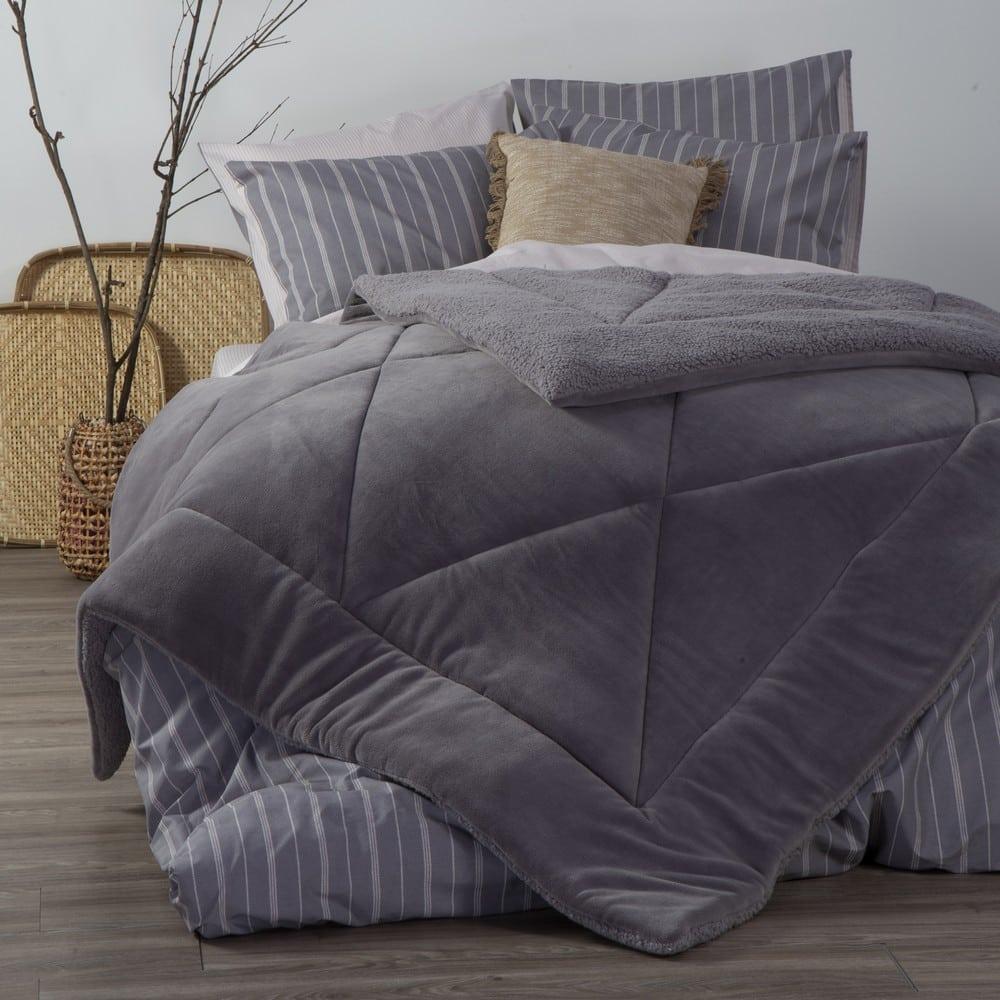 Κουβερτοπάπλωμα Storm Grey Nef-Nef Υπέρδιπλo 240x220cm