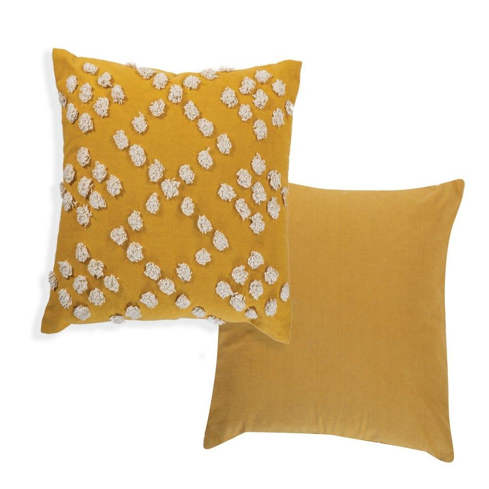 Μαξιλάρι Διακοσμητικό (Με Γέμιση) Deline Yellow Nef-Nef 45X45 Βαμβάκι-Polyester