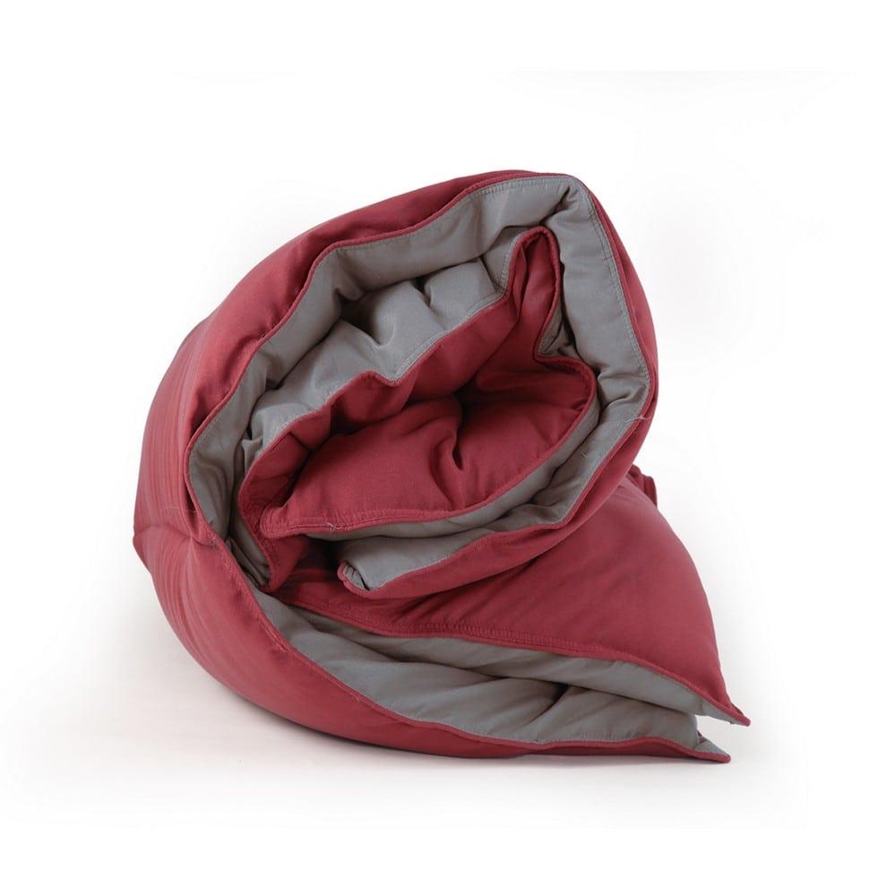 Πάπλωμα Bicolor-21 Bordo-Dark Grey Nef-Nef King Size 260x240cm