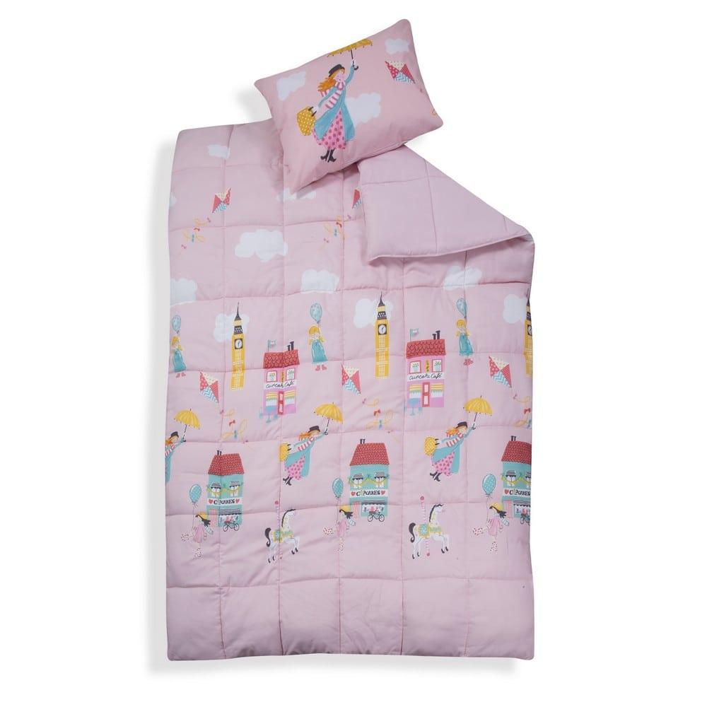 Πάπλωμα Παιδικό Mary Poppins Pink Nef-Nef Μονό 160x220cm