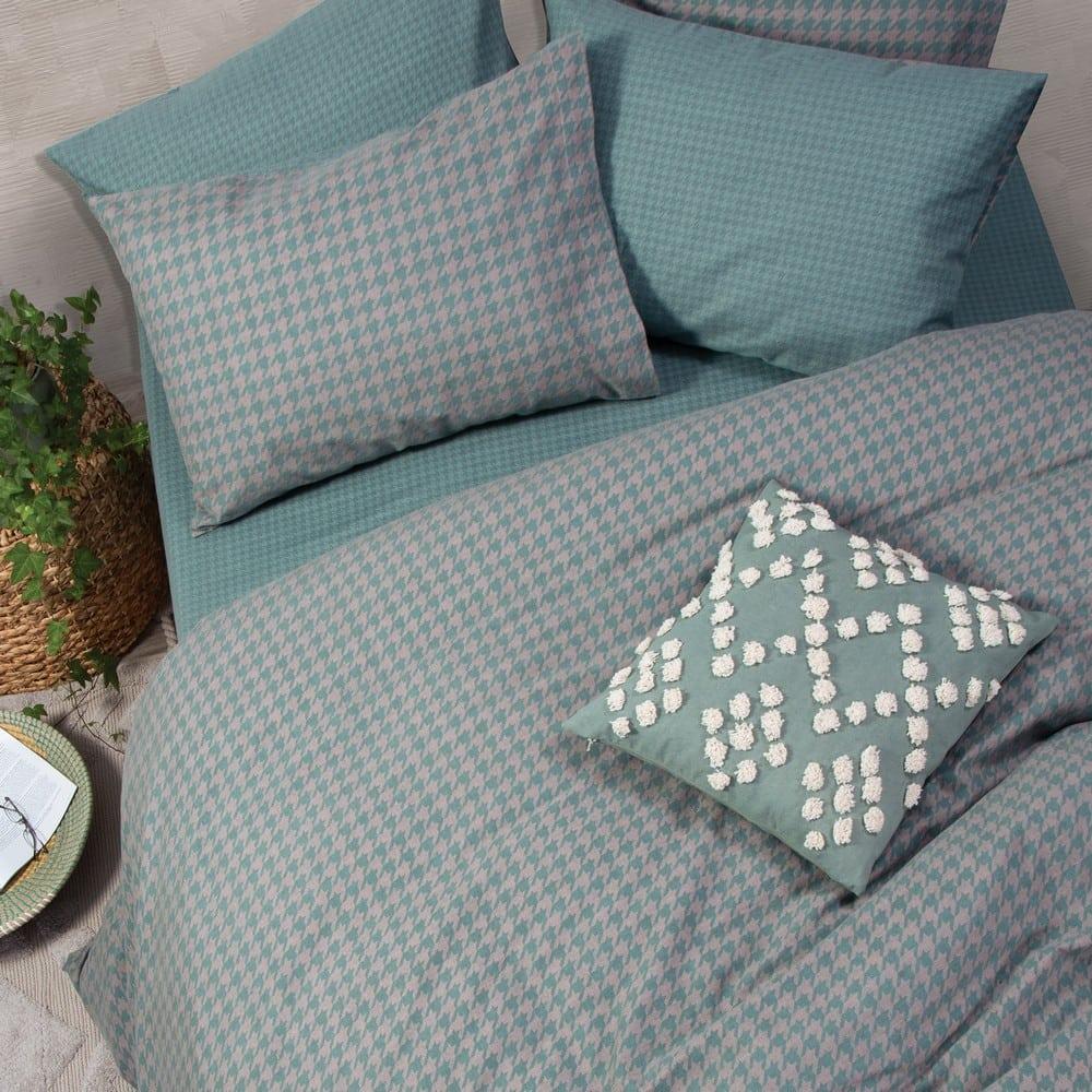 Παπλωματοθήκη Honest Σετ 2τμχ Green Nef-Nef Μονό 160x230cm