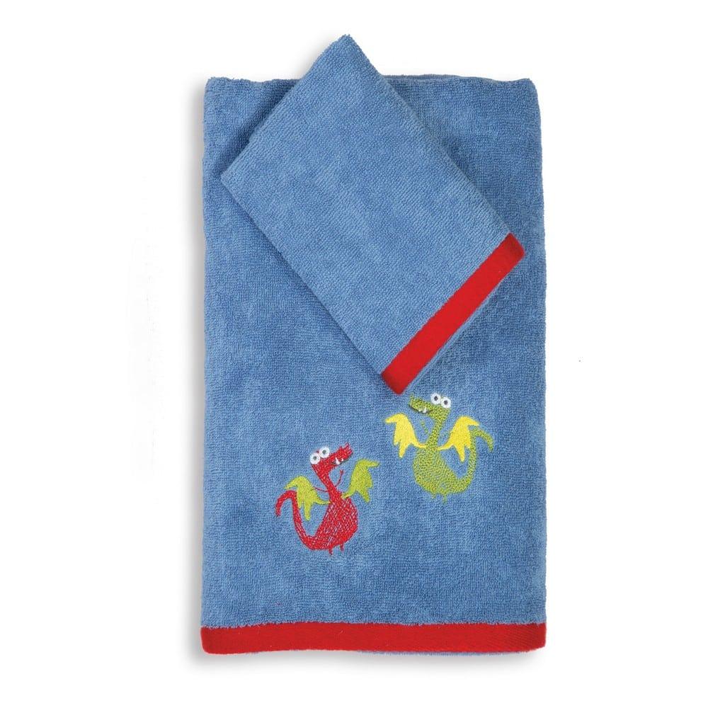 Πετσέτα Παιδική Vikings Style Σετ 2τμχ Blue Nef-Nef Σετ Πετσέτες 70x140cm