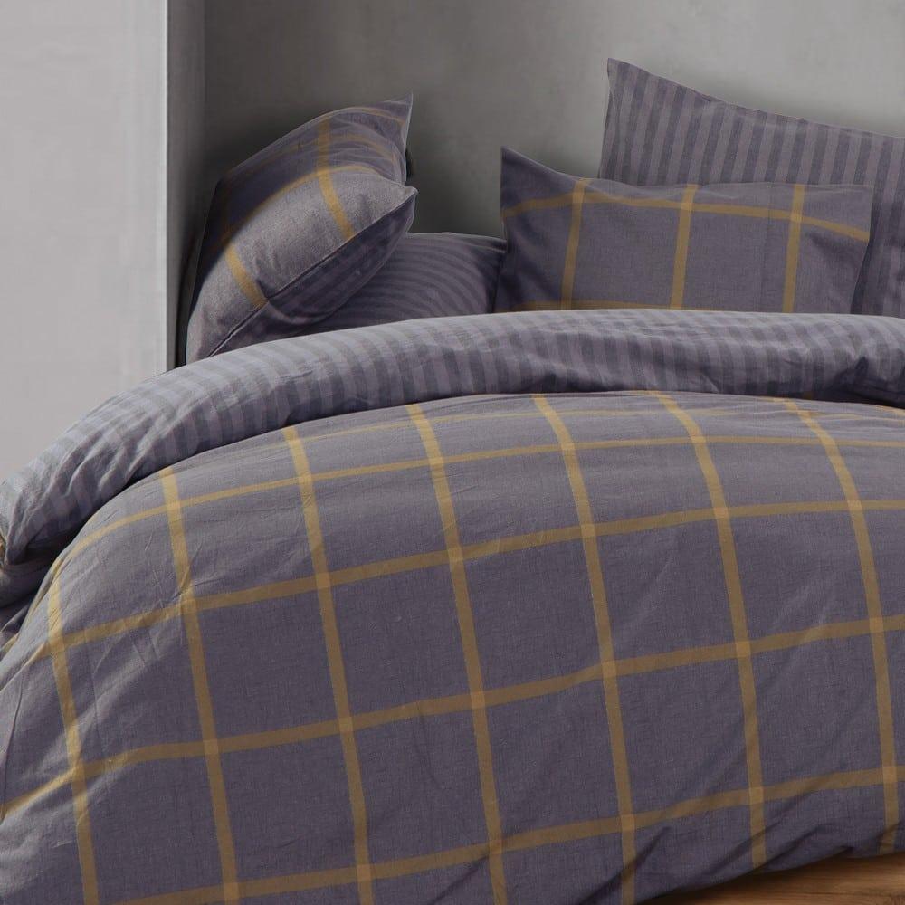 Σεντόνι Walace Σετ 3τμχ Grey Nef-Nef Μονό 160x260cm