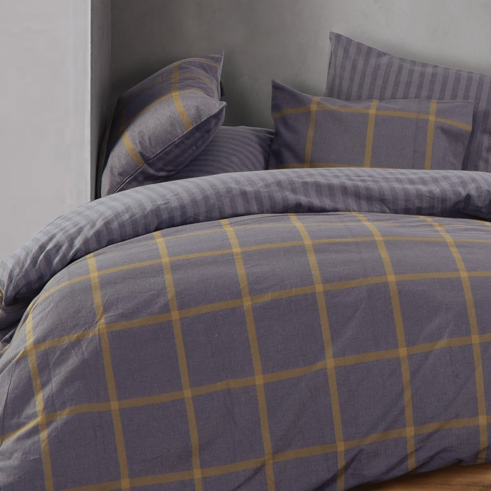 Σεντόνι Walace Σετ 4τμχ Grey Nef-Nef Υπέρδιπλo 240x260cm