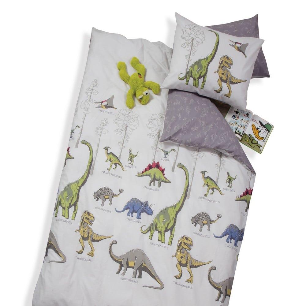 Σεντόνι Παιδικό Jurassic Σετ 3τμχ Beige Nef-Nef Μονό 160x260cm