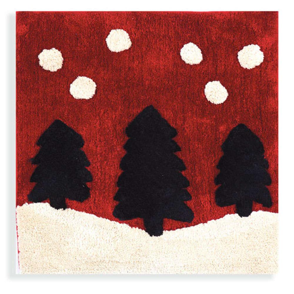 Ταπέτο Μπάνιου Χριστουγεννιάτικο Christmas Forest Red Nef-Nef Medium