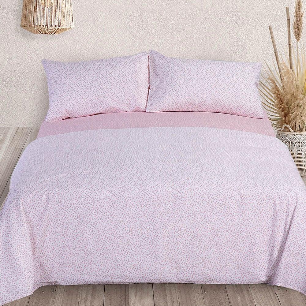 Σεντόνια Petite Σετ 4τμχ Pink Nef-Nef Υπέρδιπλo