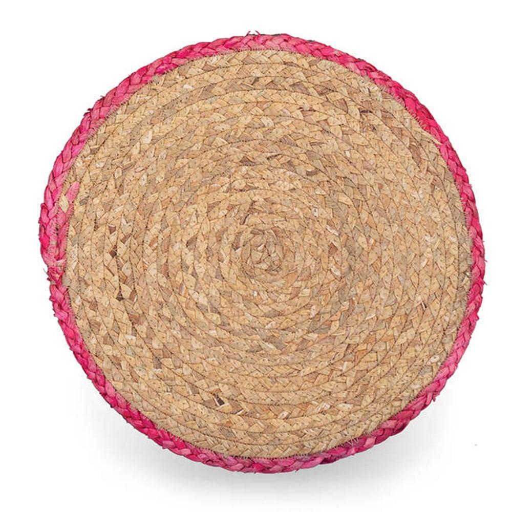 Σουπλά Seagrass Velez Pink Nef-Nef 38x38cm