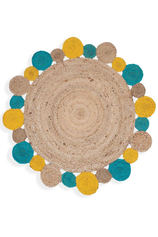 Χαλί Jute Yellow-Aqua Nef-Nef 100X200