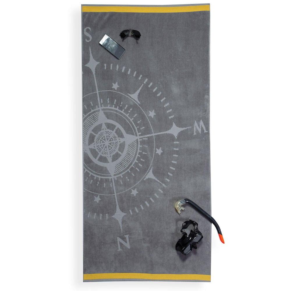 Πετσέτα Θαλάσσης Compass Grey Nef-Nef Θαλάσσης