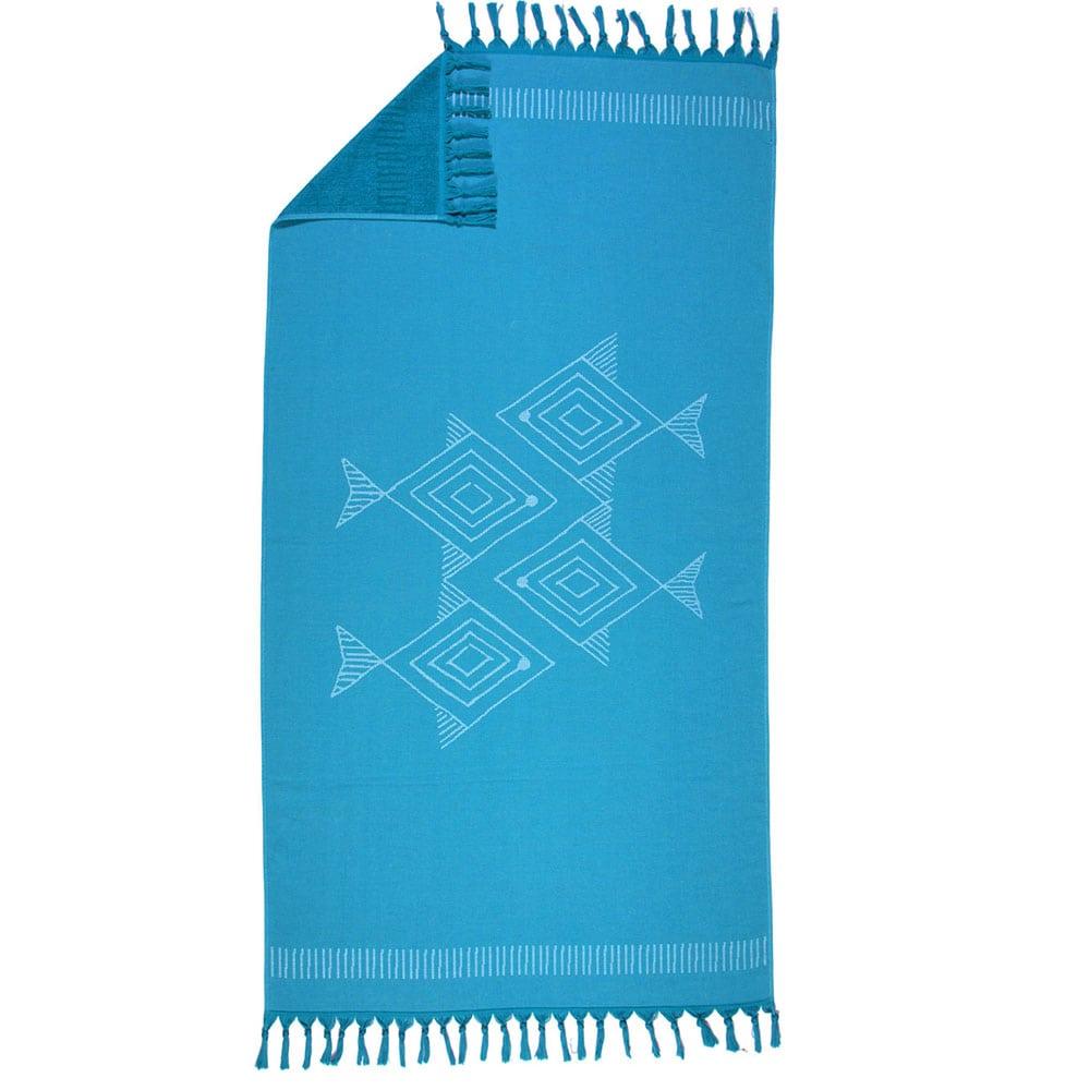Πετσέτα Θαλάσσης Fishes Way Blue Nef-Nef Θαλάσσης