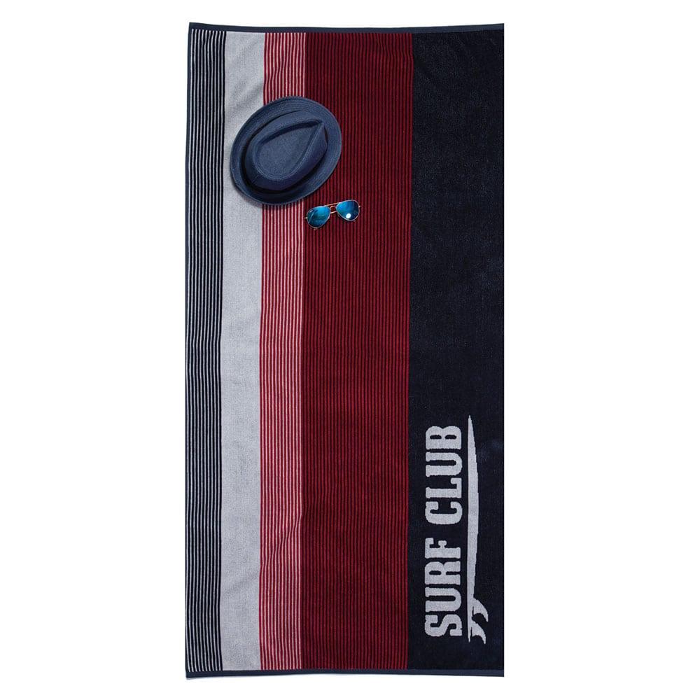 Πετσέτα Θαλάσσης Surf Club Black-Red Nef-Nef Θαλάσσης