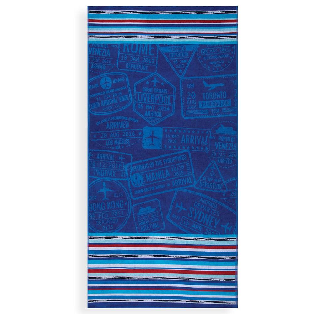 Πετσέτα Θαλάσσης World Travel Blue Nef-Nef Θαλάσσης