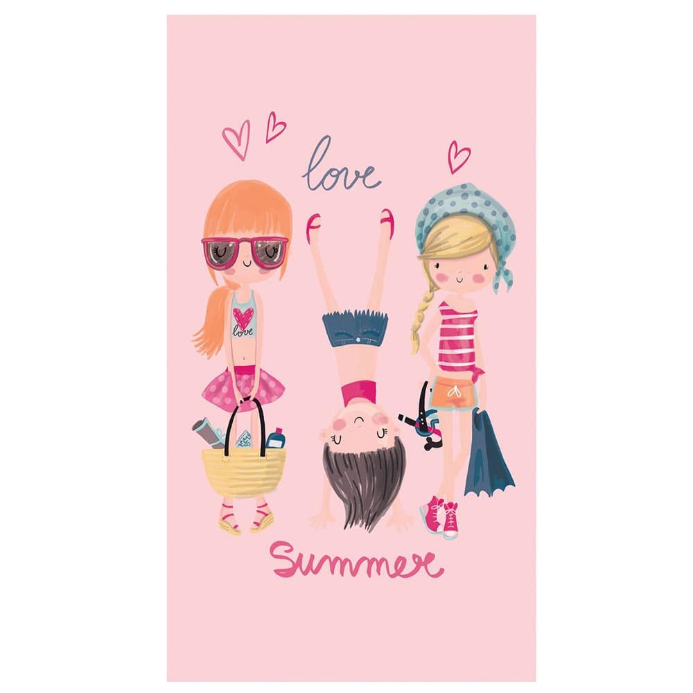 Πετσέτα Θαλάσσης Παιδική Beach Girls Pink Nef-Nef Θαλάσσης