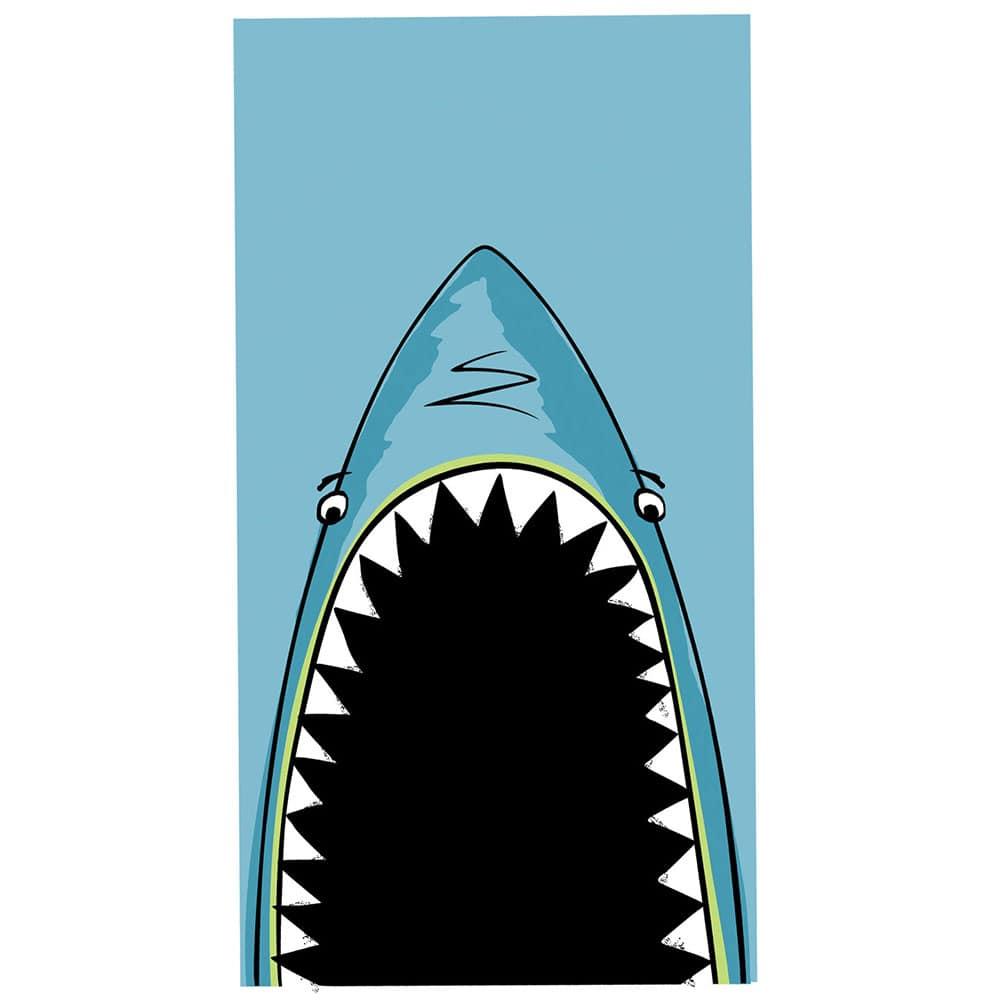 Πετσέτα Θαλάσσης Παιδική Shark Jaws Blue Nef-Nef Θαλάσσης