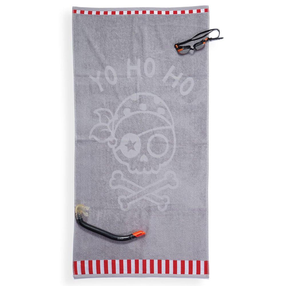 Πετσέτα Θαλάσσης Παιδική Yo Ho Ho Grey Nef-Nef Θαλάσσης