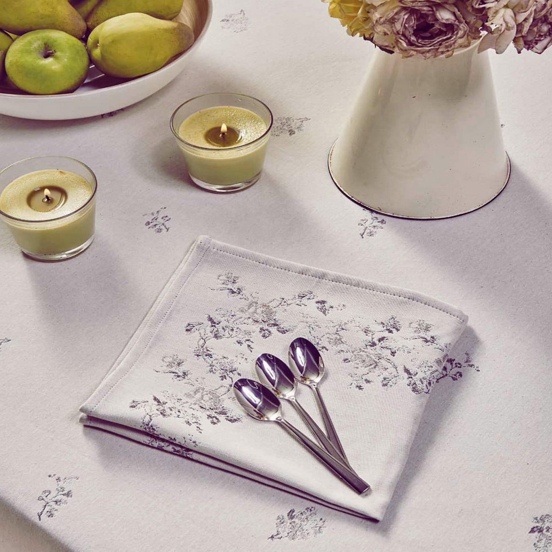 Πετσέτες Φαγητού Σετ 4τμχ.Swell 35 White – Grey Kentia 50X50