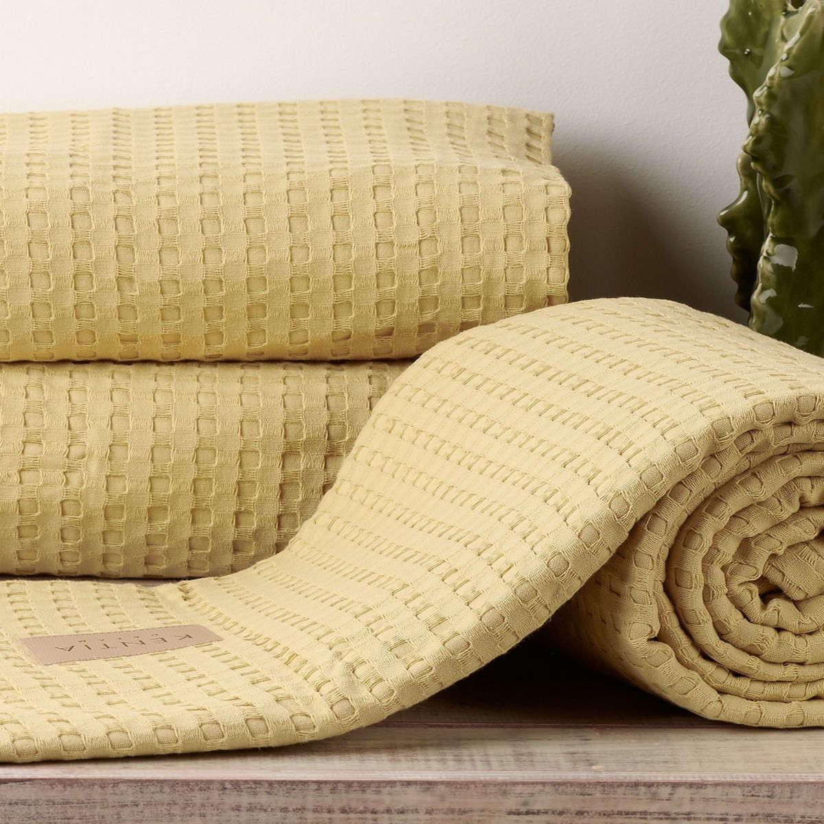 Κουβέρτα Soho 11 Yellow Kentia King Size 260x240cm