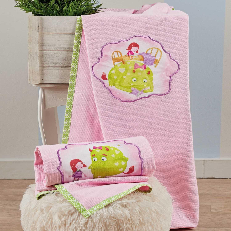 Κουβέρτα Fairy Tale 14 Pink Kentia Αγκαλιάς 75x100cm