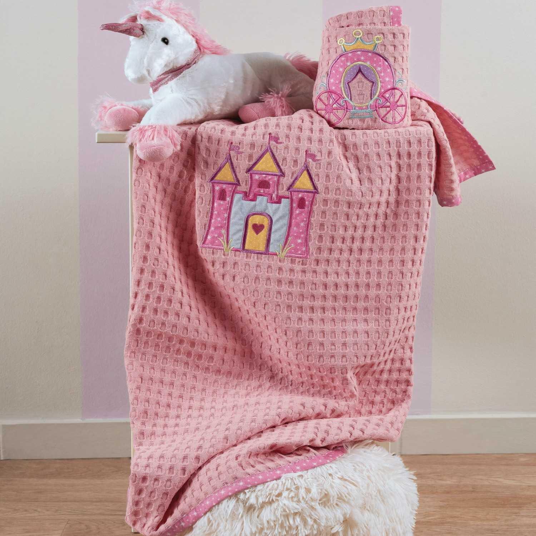 Κουβέρτα Principal Pink Kentia Κούνιας 120x140cm