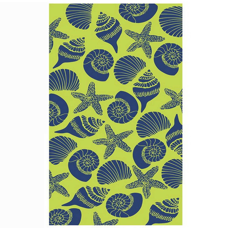 Πετσέτα Θαλάσσης Conch 10 Green-Blue Nef-Nef Θαλάσσης 80x160cm
