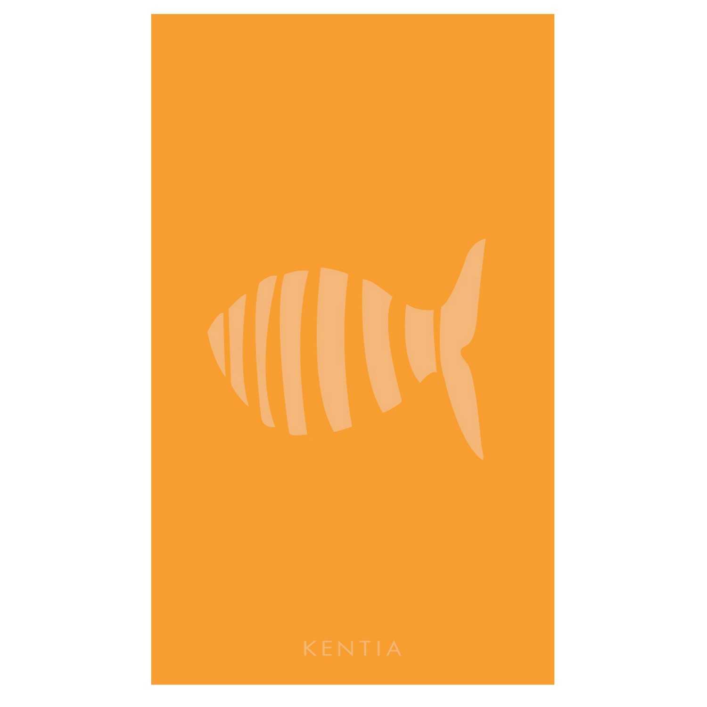 Πετσέτα Θαλάσσης Ferro 40 Orange Kentia Θαλάσσης 80x160cm