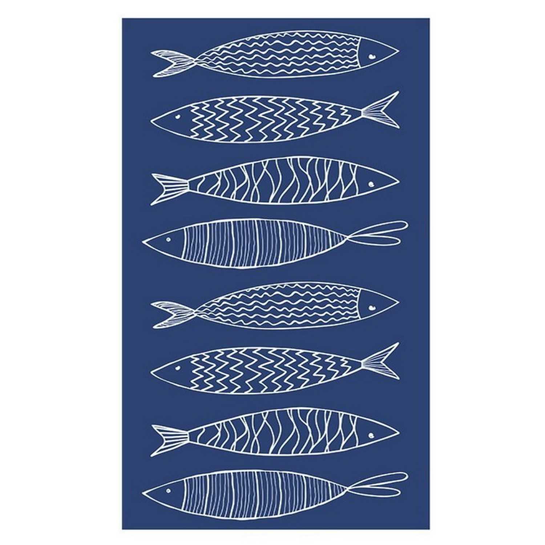 Πετσέτα Θαλάσσης Pesce Blue Kentia Θαλάσσης 80x160cm