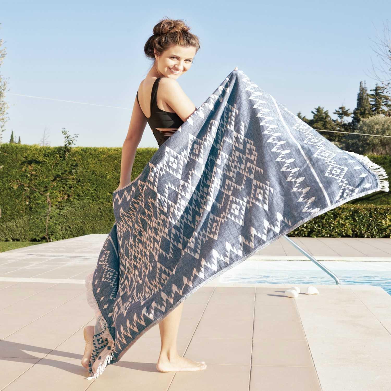 Πετσέτα Θαλάσσης-Παρεό Enzo Ciel Kentia Θαλάσσης 90x180cm