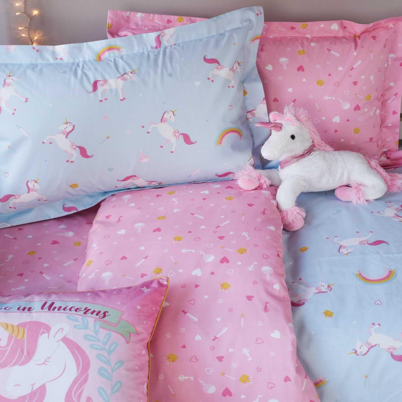 Σεντόνια Σετ Unicorn Pink-Ciel Kentia Μονό 160x255cm