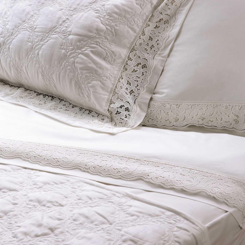 Σεντόνια Σετ Clelia White Kentia Υπέρδιπλo 240x270cm