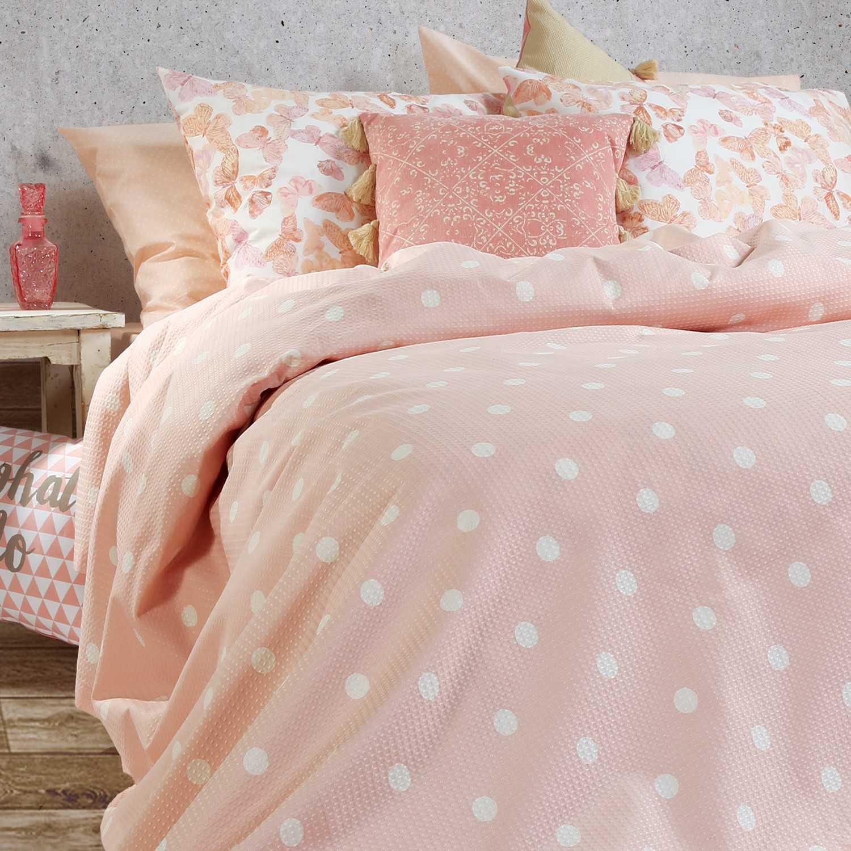 Κουβέρτα Πικέ Posto Pink Nef-Nef Υπέρδιπλo 230x240cm