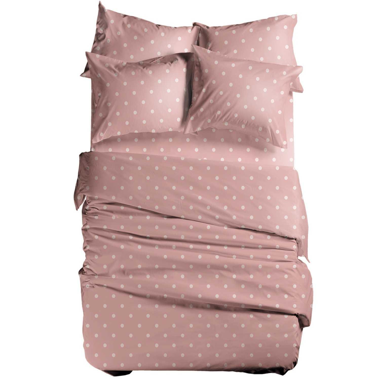 Σεντόνι Basic Dots Pink Nef-Nef Υπέρδιπλo 240x270cm