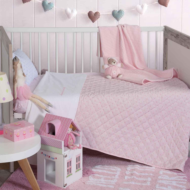 Σεντόνια Βρεφικά Σετ 3τμχ Dream & Wishes Pink Nef-Nef Κούνιας 120x170cm
